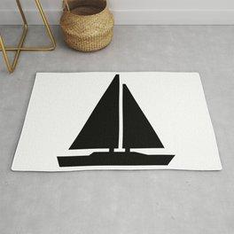sail boat Rug