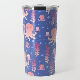 Baby Octopus   Pink Travel Mug