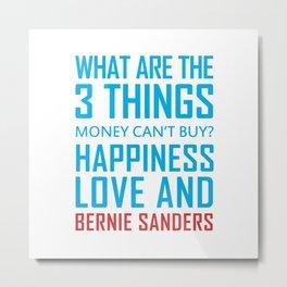 Bernie Sanders 2020 Slogan Metal Print