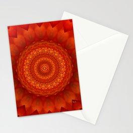 Muladhara chakra mandala Stationery Cards