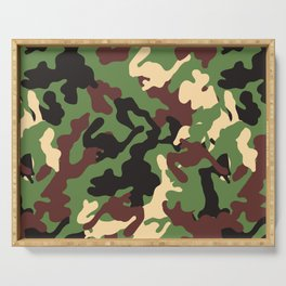 Camouflage Design Serving Tray