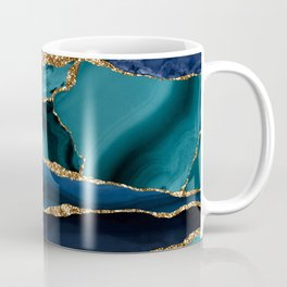 Ocean Blue Mermaid Marble Coffee Mug