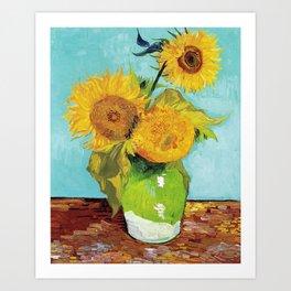 Vincent van Gogh - Three Sunflowers Art Print