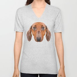 Dachshund Dog Unisex V-Neck