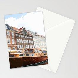 Boating Along Nyhavn Stationery Cards