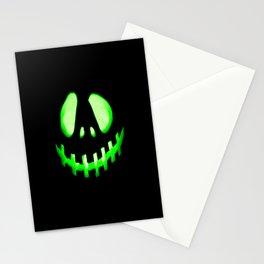 HALLOWEEN. Jack O Lantern : Green Stationery Cards