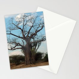 Lonely Tree Savanna Africa Stationery Cards