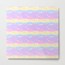 Lolipop Sprinkles Sweet Pastel Colours Metal Print