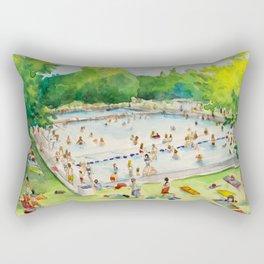 Deep Eddy Pool - Austin, Texas Rectangular Pillow