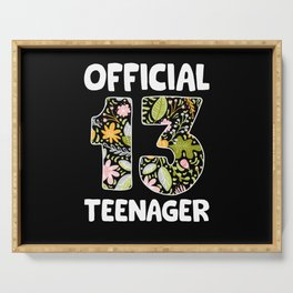 Girls Official Teenager 13 Years Birthday Serving Tray
