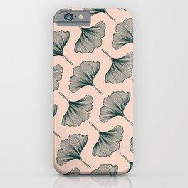 Diagonal Gingko Leaves iPhone Case