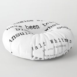 50     | Walt Whitman Quotes | 190803 Floor Pillow