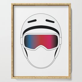 Snowboard Helmet and Goggles Serving Tray