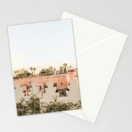 Rooftop Palmtree View In Marrakech Picture | Pink Pastel Colors Of Morocco | Travel Photography Art Print Stationery Cards