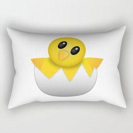 Hatching baby chick Emoji Rectangular Pillow