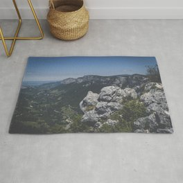Mountain landcape in Vercors, France Rug