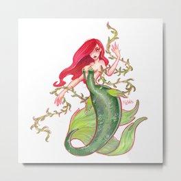 Poison Mermaid Metal Print