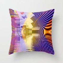 Geometric Glorious Morning Throw Pillow