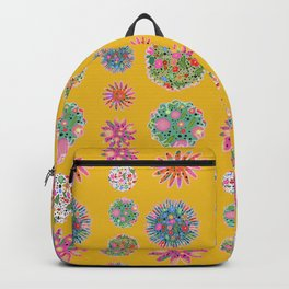 mustard flower power Backpack