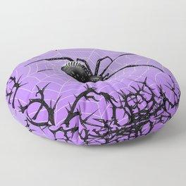 Briar Web- Purple Floor Pillow
