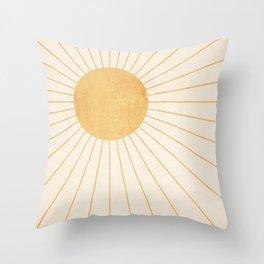 Sun #2 Yellow Throw Pillow