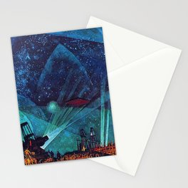 Planet Observatory, Planetarium, Power of the People, Stars & Constellations by Konstantin Yuon Stationery Cards