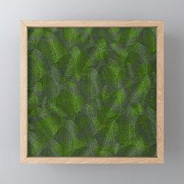 Leaves V3 GREEN Framed Mini Art Print