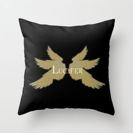 Lucifer with Wings Light Throw Pillow