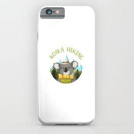Koala Hiking Team - Funny Walking, Tramping Tour Gift iPhone Case
