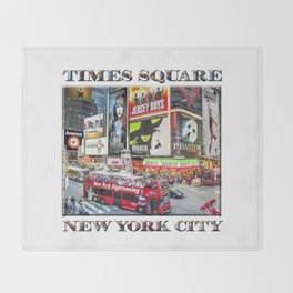 Times Square NYC (poster edition) Throw Blanket