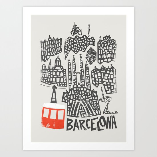 Barcelona Cityscape by foxandvelvet