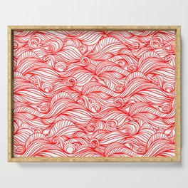 Red wave pattern Serving Tray