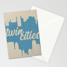 Twins Cities Skylines | Minneapolis and Saint Paul, Minnesota Stationery Cards