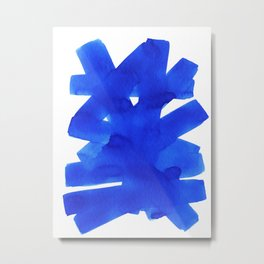 Superwatercolor Blue Metal Print