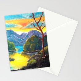 Lakeside Sunset Stationery Cards