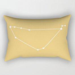 Capricorn Zodiac Constellation - Golden Yellow Rectangular Pillow