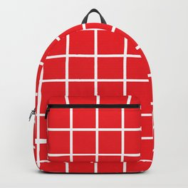 Red Grid Pattern 2 Backpack