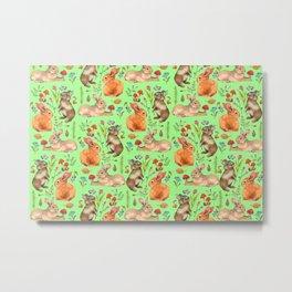 Forest rabbits - GBG Metal Print