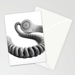 Vintage Telephone Handset monochrome Stationery Cards