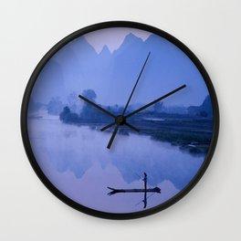 LI RIVER AT DAWN-GUILIN CHINA Wall Clock
