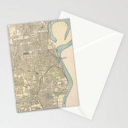 Vintage Map of Omaha Nebraska (1901) Stationery Cards