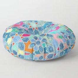Pretty Pastel Moroccan Tile Mosaic Pattern Floor Pillow