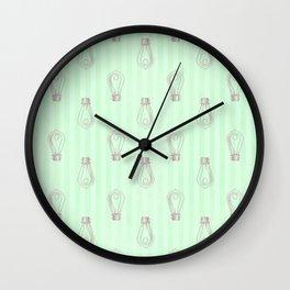 Vintage Light Bulbs Neck Gator Green Stripe Light Bulb Wall Clock