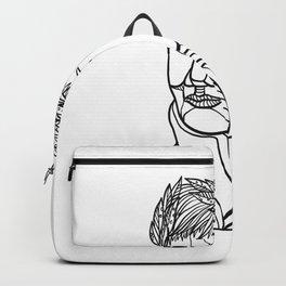Emperor Wearing Laurel Leaf Mono Line Backpack