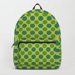 Green and Teal Polka Dots Pattern Backpack