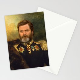 Nick Offerman Classical Painting Photoshop Stationery Cards