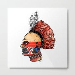 Native Warrior Metal Print