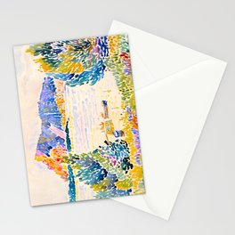Henri-Edmond Cross Neo-Impressionism Pointillism Cap Nègre 1909 WatercolorPainting Stationery Cards