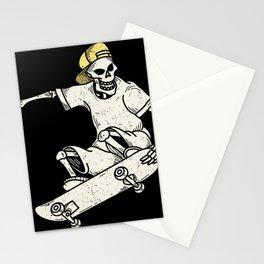 Vintage Skateboarding Skeleton Stationery Cards