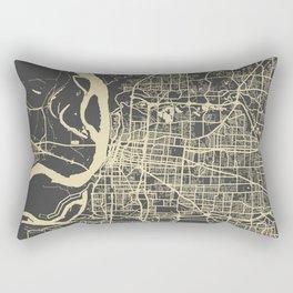 Memphis map yellow Rectangular Pillow